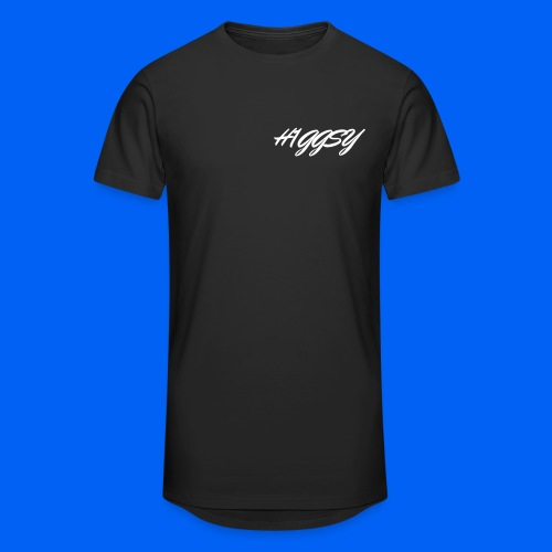 H1GGSY Signature Logo Black - Men's Long Body Urban Tee