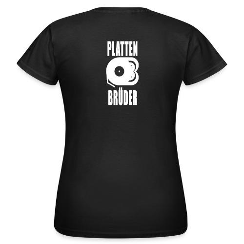 Plattenbrüder T-Shirt Logo/weiß - Frauen T-Shirt