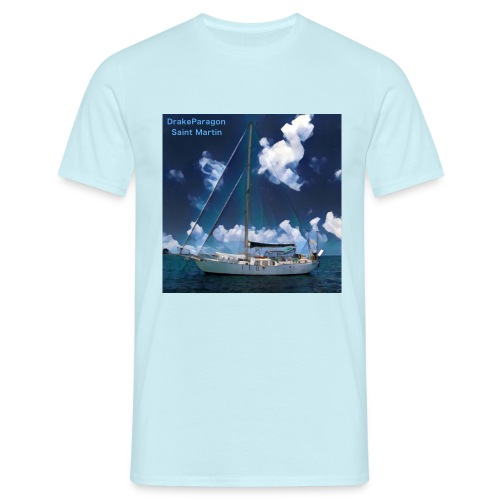 Men's T-Shirt - Anchored in Saint Martin - Men's T-Shirt