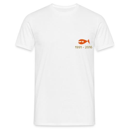 KYF Herre T-shirt (Hvid) (25 års Jubilæum) - Herre-T-shirt