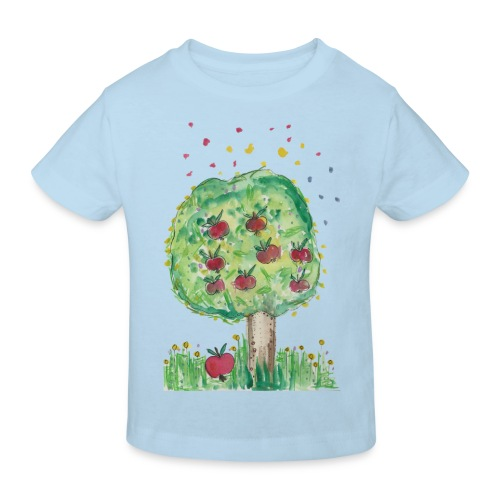 Kinder-bio-T-Shirt *Apfelbaum* hellblau - Kinder Bio-T-Shirt