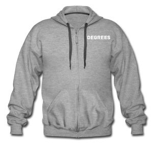 DEGREES Zip Hoodie  - Men's Premium Hooded Jacket