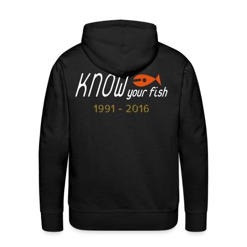 KYF Herre Hoodie (Sort) (Jubilæum) - Herre Premium hættetrøje