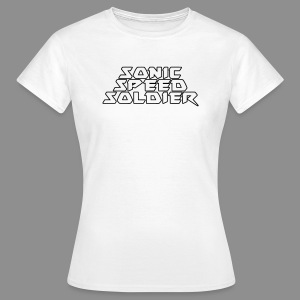 Sonic Speed Soldier + Logo left - Women - Frauen T-Shirt