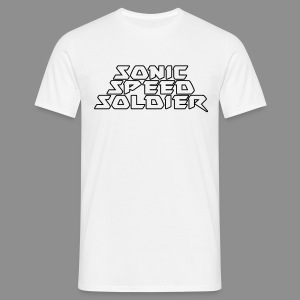 Sonic Speed Soldier + Logo left - Men - Männer T-Shirt