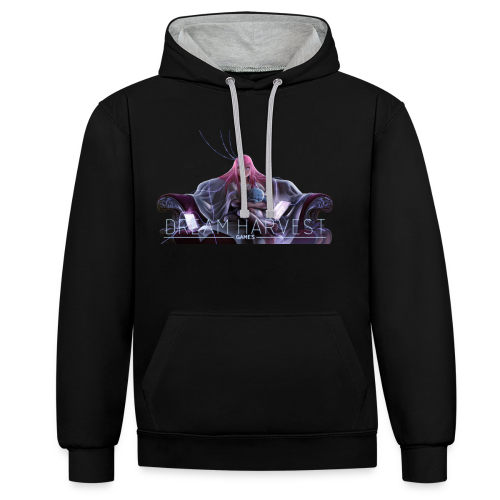 Dream Harvest - Illustrated Logo Premium Hoodie - Contrast Colour Hoodie