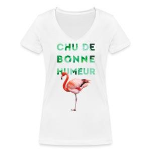 V-neck pour femmes CHU DE BONNE HUMEUR - T-shirt bio col V Stanley & Stella Femme