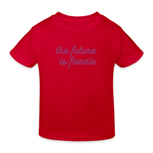The future is female - red glitter for kids - Kids' Organic T-shirt