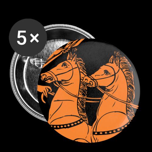 Horses - Lot de 5 petits badges (25 mm)