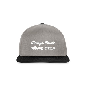 Music Always, Always Music baseball cap, grey - Snapback Cap