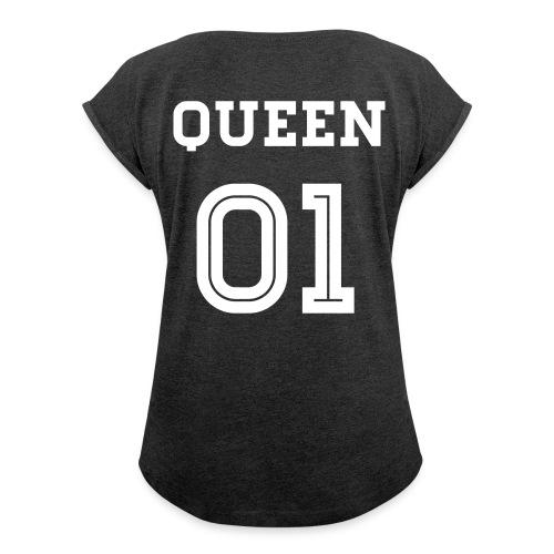 ERoNShirt Mädchens  - Frauen T-Shirt mit gerollten Ärmeln
