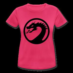 #ShirtPolyesterYellowWOMEN - Frauen T-Shirt atmungsaktiv