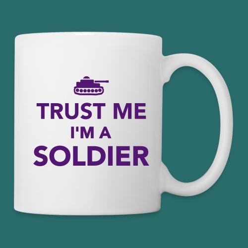 Trust me i'm a soldier - Mug blanc