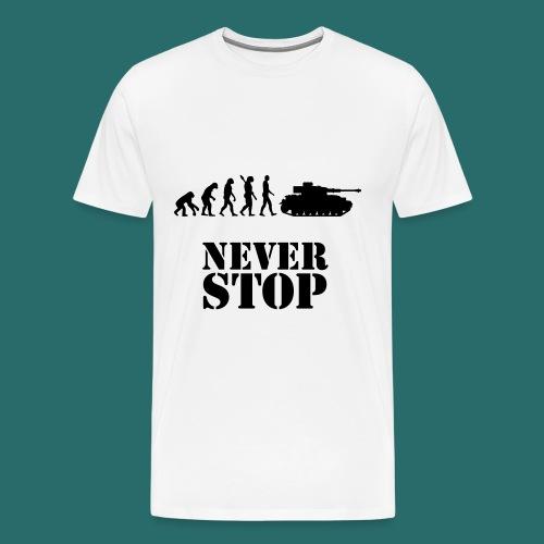 Never stop - T-shirt Premium Homme
