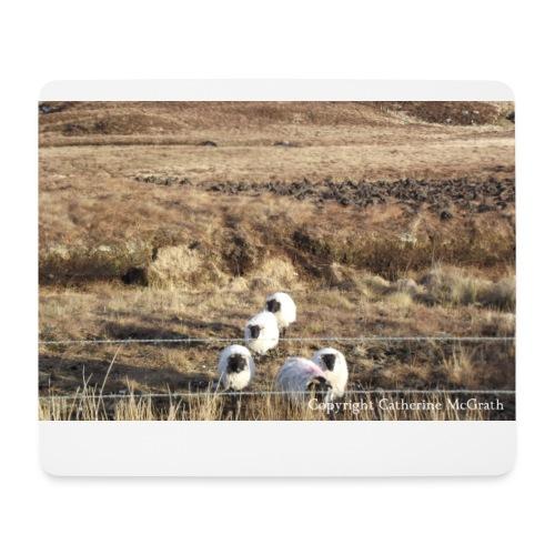 Mousemat with Connemara Sheep  - Mouse Pad (horizontal)