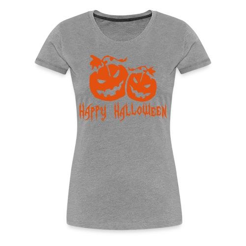 Ladies Happy Halloween T-Shirt  - Women's Premium T-Shirt