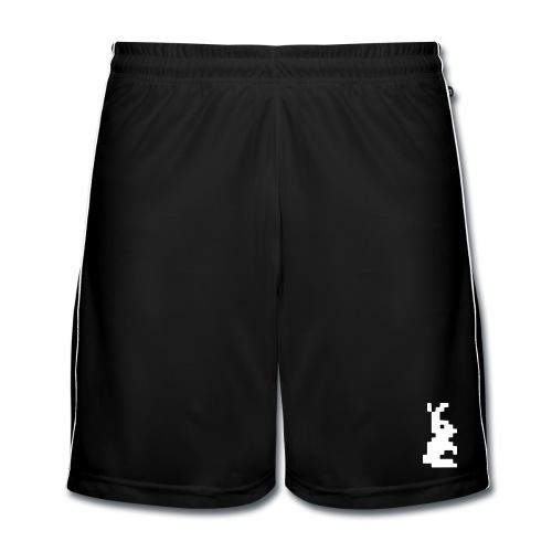 rabbit retro pixel - Männer Fußball-Shorts