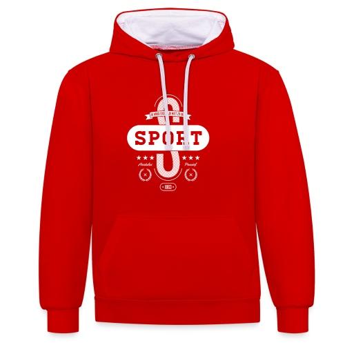 Sport unisex contrast hoodie - Contrast hoodie
