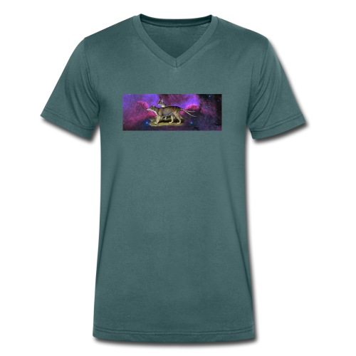 Beutelwolf in Space V-Ausschnitt - Männer Bio-T-Shirt mit V-Ausschnitt von Stanley & Stella
