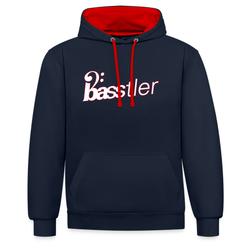 BASSTLER (Rot / Weiß) - Kontrast-Hoodie