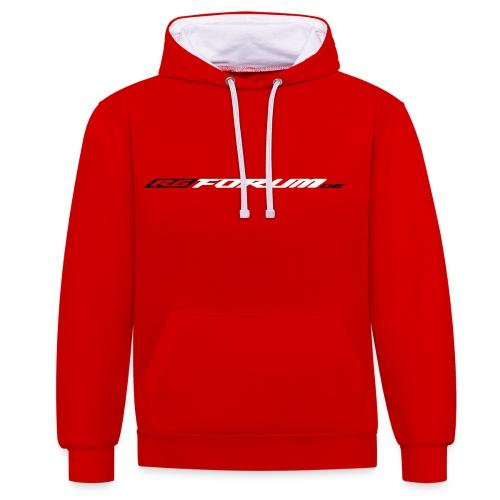 Hoodie Red/White - Kontrast-Hoodie