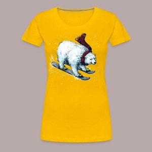 Polar Bear Ski - Women's Premium T-Shirt