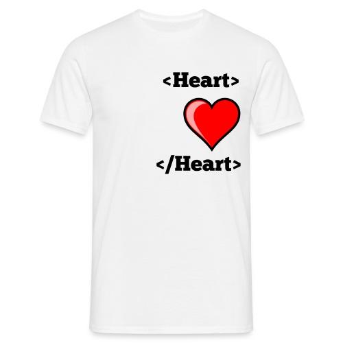 Html Heart - T-shirt Homme