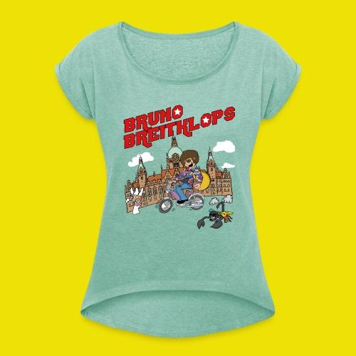 Mofa - Girlie 2 - Frauen T-Shirt mit gerollten Ärmeln