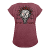 Women's T-Shirt with rolled up sleeves - by Monica Garone