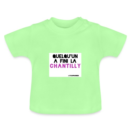 Tshirt bébé Quelqu'un a fini la chantilly - T-shirt Bébé