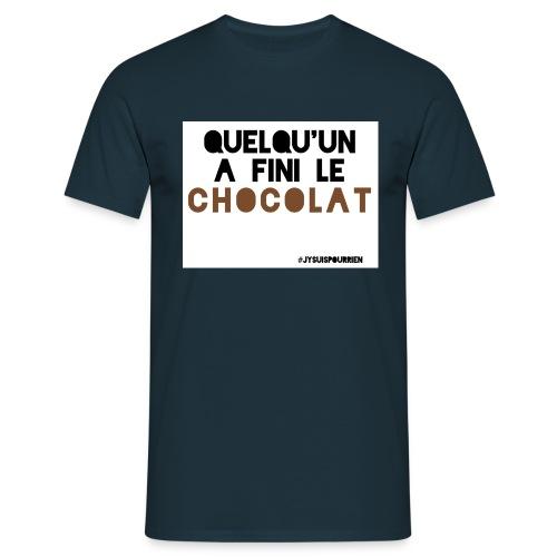Tshirt homme Quelqu'un a fini le chocolat - T-shirt Homme