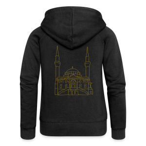 Sehitlik Moschee Berlin (gold) - Frauen Premium Kapuzenjacke