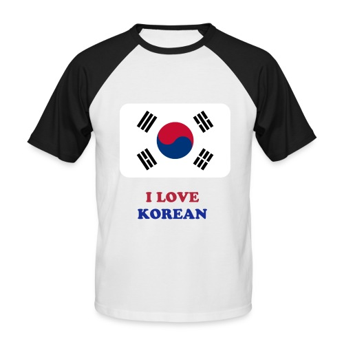 T-SHIRT I LOVE KOREN - T-shirt baseball manches courtes Homme