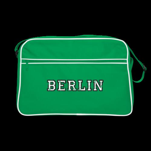 Berlin Vintage (Schwarz/Weiß) Retro Tasche - Retro Tasche