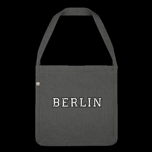 Berlin Vintage (Schwarz/Weiß) Recycling Tasche - Schultertasche aus Recycling-Material