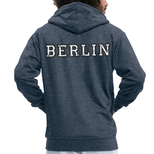 Berlin Vintage (Schwarz/Weiß) Kapuzenjacke - Männer Premium Kapuzenjacke