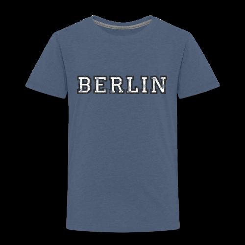 Berlin Vintage (Schwarz/Weiß) Kinder T-Shirt - Kinder Premium T-Shirt