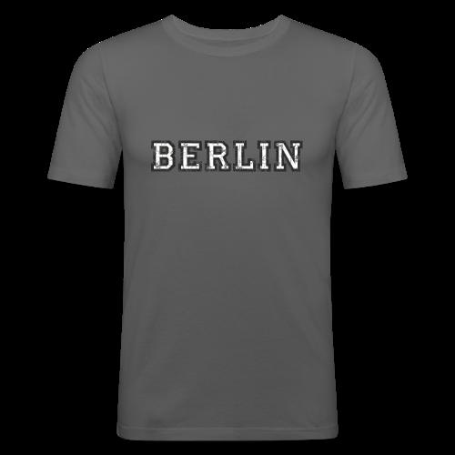Berlin Vintage (Schwarz/Weiß) Slim Fit T-Shirt - Männer Slim Fit T-Shirt