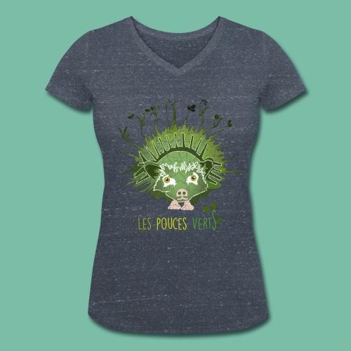 T-shirt Bio Femme Herifleur Brocéliande Spirit - T-shirt bio col V Stanley & Stella Femme