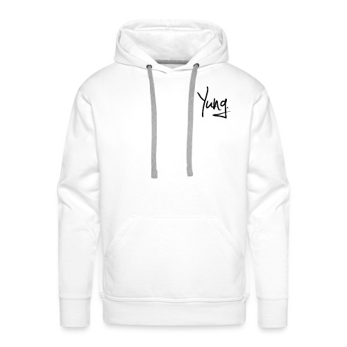 Premium Yung Hoodie - Black on White - Men's Premium Hoodie