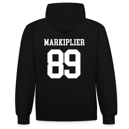 Markiplier College Hoodie  - Contrast Colour Hoodie