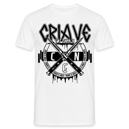 T-shirt blanc Snap Knife - T-shirt Homme