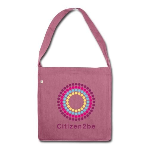Canvas Tasche Citizen2be rosa - Schultertasche aus Recycling-Material