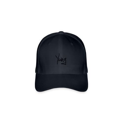 Yung Baseball Cap - Black and White  - Flexfit Baseball Cap