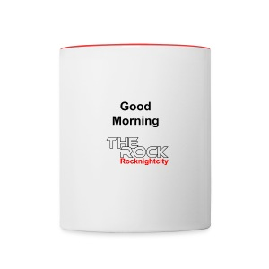 Good Morning THE ROCK Tasse 2 farbig - Tasse zweifarbig