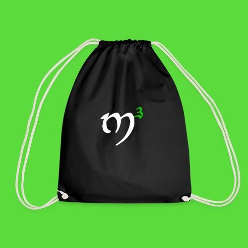 M3 Logo White. Drawstring Bag - Drawstring Bag