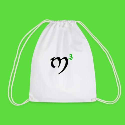 M3 Logo Black. Drawstring Bag - Drawstring Bag