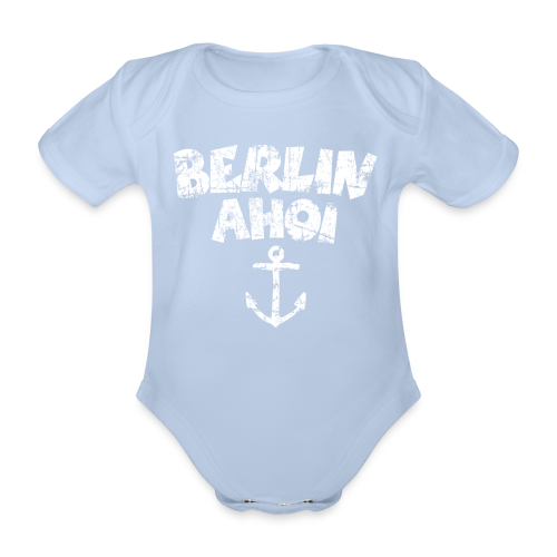 Berlin Ahoi Vintage Weiß Babybody - Baby Bio-Kurzarm-Body