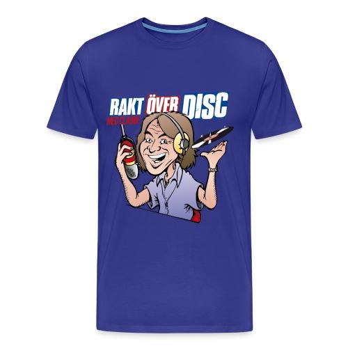 Premium T-shirt Men: Rakt Över Disc med Clabbe [multiple colors] - Premium-T-shirt herr