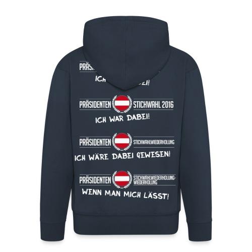 Präsidentenwahl 2016 ICH WAR DABEI komplett Kapuzenjacke (Aufdruck auf Rückseite) - Männer Premium Kapuzenjacke